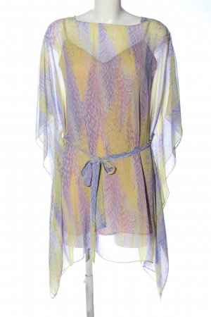 BCBG Maxazria Chiffon Dress lilac-primrose abstract pattern casual look