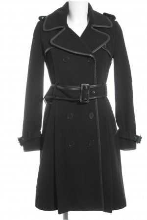 BCBG Maxazria Wintermantel schwarz Casual-Look