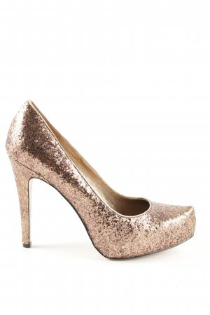 BCBG Platform Pumps gold-colored casual look