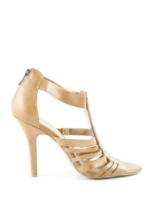 BCBG Strapped High-Heeled Sandals cognac-coloured Decorative elements