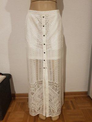 BCBG Maxazria Spódnica maxi biały