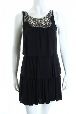 BCBG Flounce Dress black Metal elements