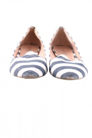 BCBGeneration Ballerinas with Toecap blue-white striped pattern casual look