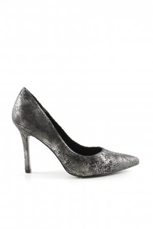 BCBGeneration High Heels silver-colored-black allover print elegant