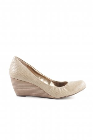 BCBGeneration Keil-Pumps wollweiß Animalmuster Casual-Look