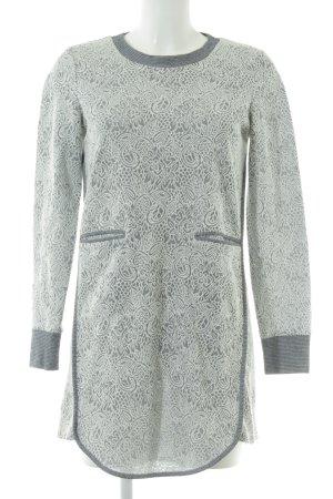 BCBGeneration Robe à manches longues blanc-gris clair motif floral