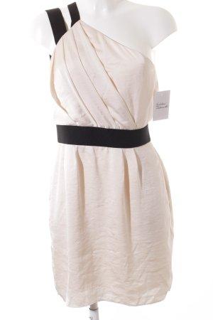 BCBGeneration Sukienka mini kremowy-czarny Elegancki
