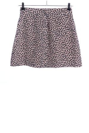 BCBGeneration Spódnica mini różowy-czarny Wzór w kropki Elegancki