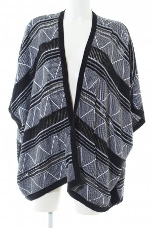 BCBGeneration Knitted Poncho black-white graphic pattern casual look