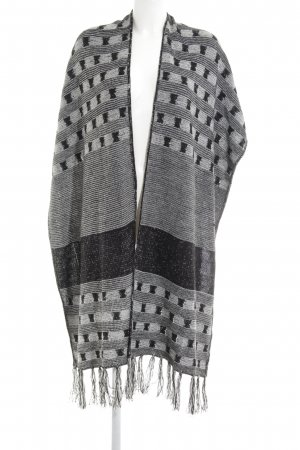 BCBGeneration Knitted Poncho black-white casual look