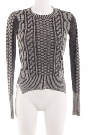 BCBGeneration Knitted Sweater black-light grey abstract pattern casual look