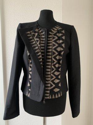 BCBG Maxazria Krótka kurtka czarny-beżowy