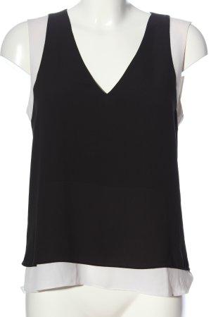 BCBGMAXAZRIA ärmellose Bluse schwarz-weiß Casual-Look