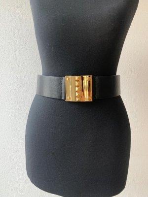 BCBG Maxazria Boucle de ceinture noir-doré