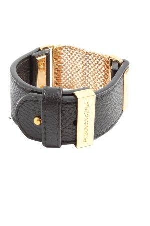 BCBGMAXAZRIA Lederen armband zwart-goud casual uitstraling