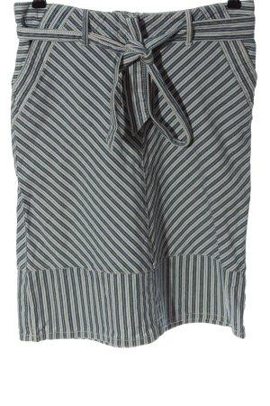BCBGMAXAZRIA Spódnica midi niebieski-jasnoszary Wzór w paski W stylu casual