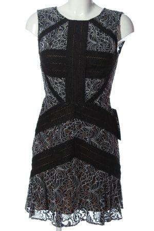 BCBGMAXAZRIA Sukienka mini czarny-biały Na całej powierzchni W stylu casual