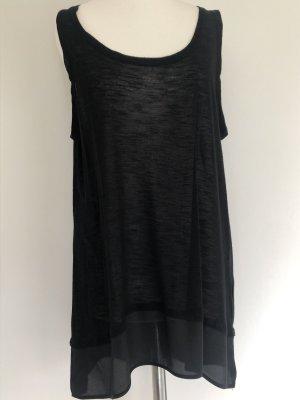 BCBG Maxazria Blusa larga negro