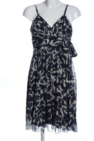 BCBGMAXAZRIA Sukienka na ramiączkach niebieski-jasnoszary Abstrakcyjny wzór