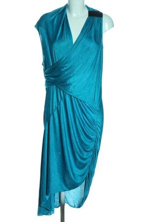 BCBGMAXAZRIA Robe bas asymétrique turquoise élégant