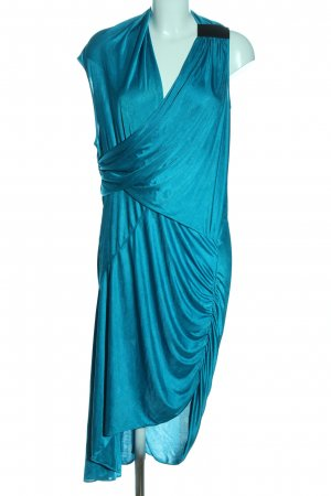 BCBGMAXAZRIA Asymetryczna sukienka turkusowy Elegancki
