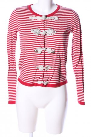 bdba Short Jacket white-red striped pattern casual look