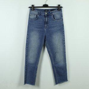 BDG Hoge taille jeans staalblauw Katoen