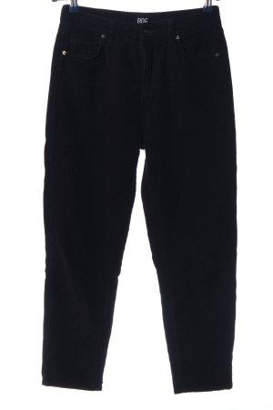 BDG Pantalone di velluto a coste nero stile casual