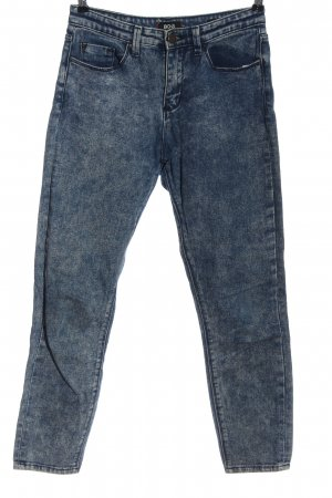 BDG High Waist Jeans blue flecked casual look