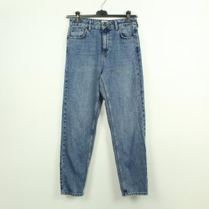 BDG Mom-Jeans azure-steel blue cotton