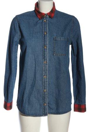 BDG Spijkershirt blauw-rood geruite print zakelijke stijl