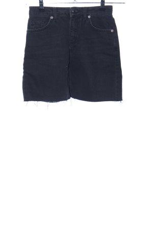BDG Jupe en jeans noir style décontracté