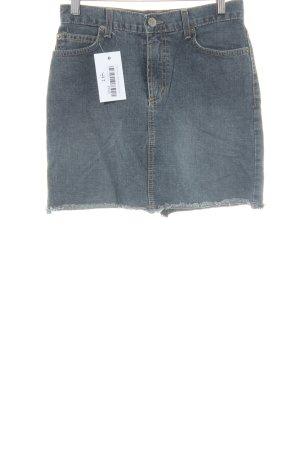 BDG Denim Skirt slate-gray street-fashion look