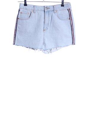 BDG Denim Shorts blue striped pattern casual look