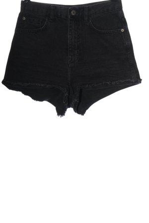 BDG Short en jean noir style décontracté