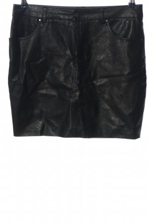 BDG Faux Leather Skirt black wet-look
