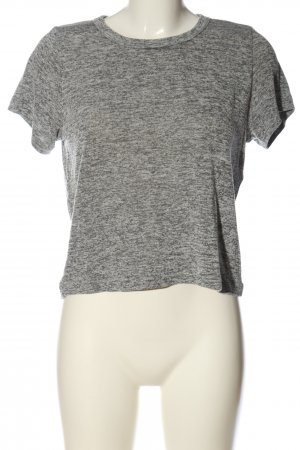 BDG Short Sleeved Blouse light grey flecked casual look