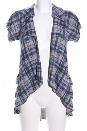 BDG Short Sleeve Knitted Jacket blue-light grey allover print casual look