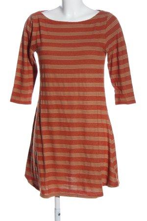 BDG Abito a maniche lunghe arancione chiaro-crema motivo a righe stile casual