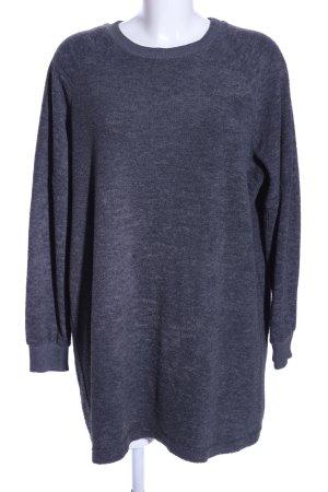 BDG Lange jumper blauw gestippeld casual uitstraling