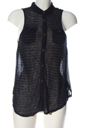BDG Lange top zwart-blauw gestreept patroon casual uitstraling