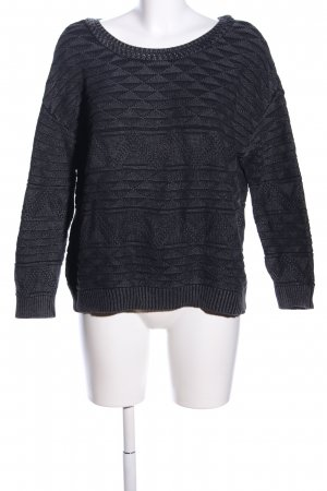BDG Crewneck Sweater black-light grey graphic pattern casual look