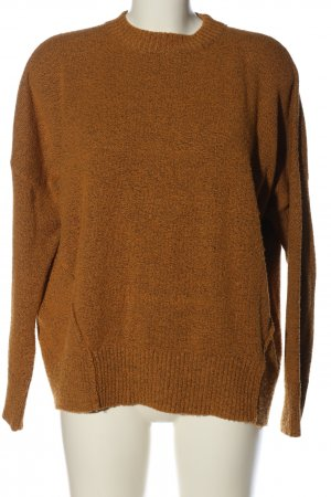 BDG Crewneck Sweater brown flecked casual look