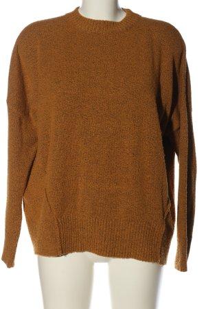 BDG Kraagloze sweater bruin gestippeld casual uitstraling