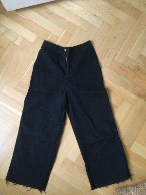 BDG Hoge taille broek donkerblauw Katoen