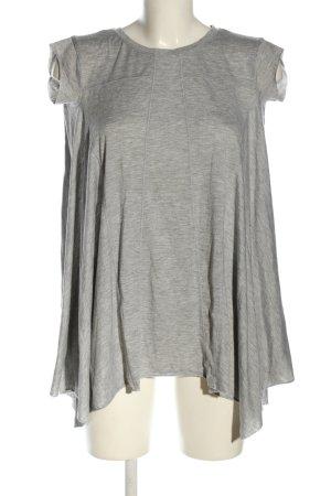BDG Cowl-Neck Shirt light grey flecked casual look
