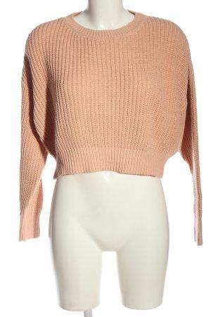 BDG Warkoczowy sweter nude Warkoczowy wzór W stylu casual