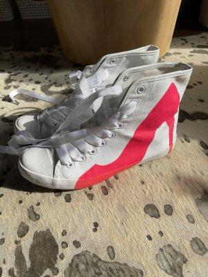 BE&D Sneaker High Heel Weiß Pink Gr. 37 Converse