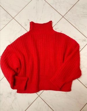 Be Edgy Coarse Knitted Sweater red-brick red