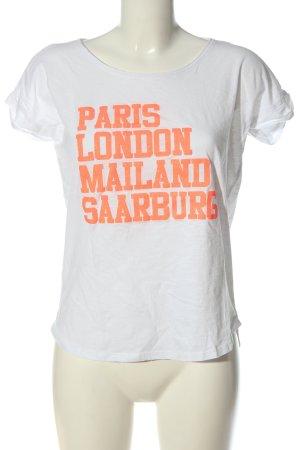 be famous T-shirt biały Wydrukowane logo W stylu casual